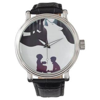 Niños en maderas reloj de pulsera