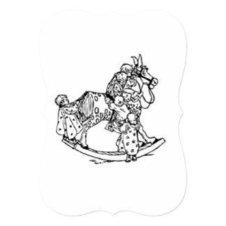 Niños en un caballo mecedora anuncio personalizado