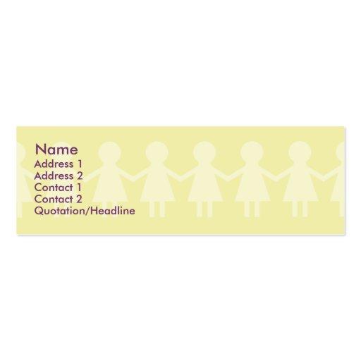 Niños - flacos tarjeta de visita