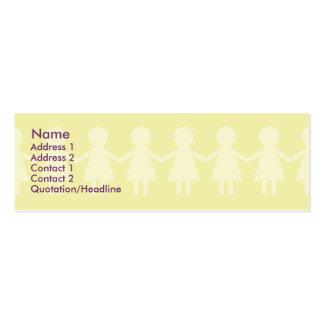Niños - flacos tarjetas de visita mini