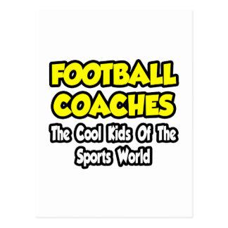 Niños frescos de los entrenadores de fútbol… del m tarjeta postal
