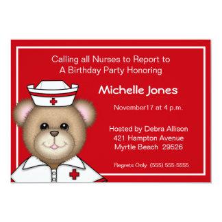 Niños/invitaciones adultas de la enfermera invitación 12,7 x 17,8 cm