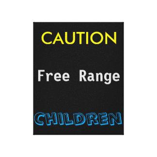 Niños libres de la gama de la precaución impresión en lienzo