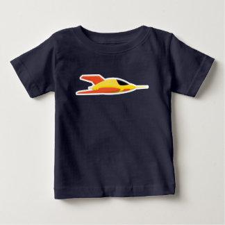 Niños lindos del bebé de la camiseta de la nave de