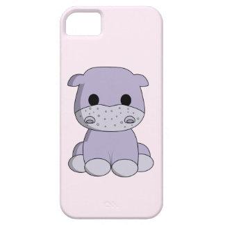 Niños lindos del dibujo animado del hipopótamo del funda para iPhone SE/5/5s