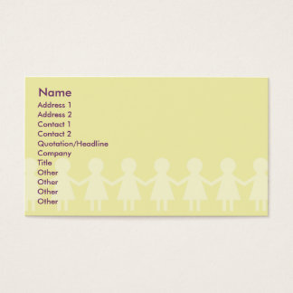 Niños - negocio tarjeta de negocios