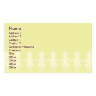 Niños - negocio tarjetas de visita