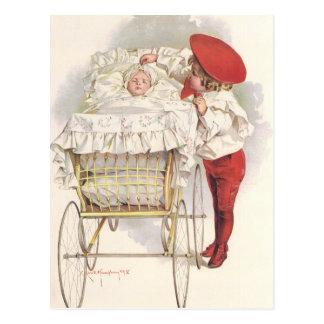 Niños, niño y bebé del Victorian del vintage en Postales