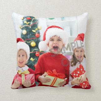 Niños o familia de la plantilla de la foto de cojín decorativo