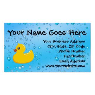 Niños personalizados burbujas azules de goma del tarjetas de visita