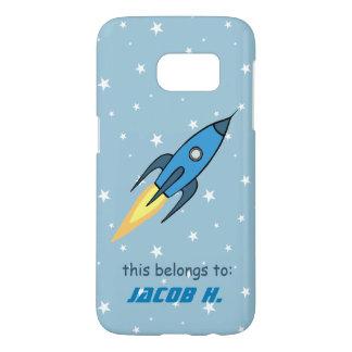 Niños personalizados lindos retros azules de funda samsung galaxy s7