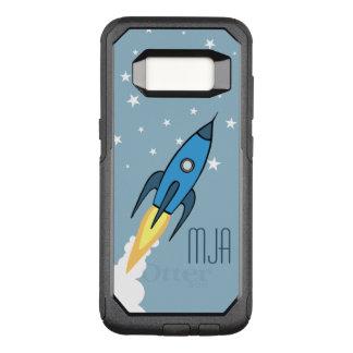Niños personalizados Rocketship retros azules del Funda Commuter De OtterBox Para Samsung Galaxy S8