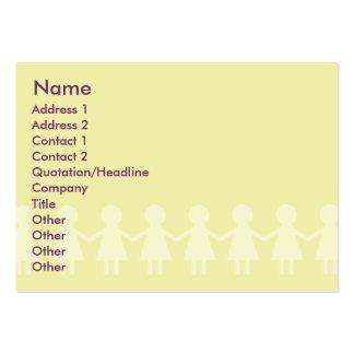 Niños - rechonchos plantilla de tarjeta de visita