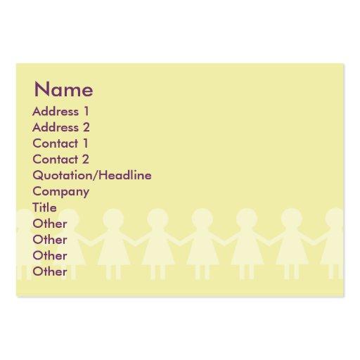 Niños - rechonchos tarjeta de visita
