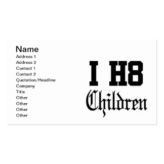 niños tarjetas de visita