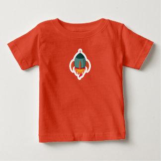Niños verdes lindos del bebé de la camiseta de la