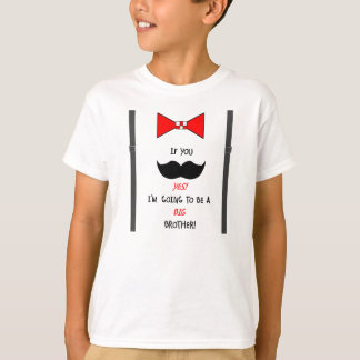 Niños y camiseta del bigote de hermano mayor del