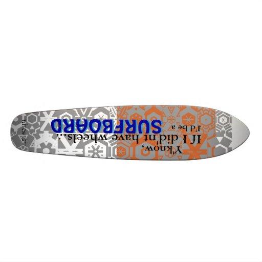 """Niteshift """"resaca en las ruedas"""" Longboard Patín Personalizado"""