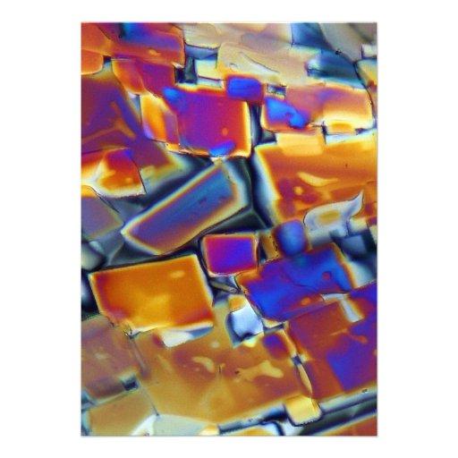 Nitrato del itrio debajo del microscopio invitacion personalizada