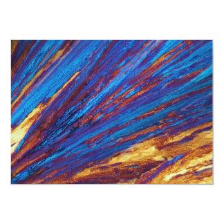 Nitrato del tulio debajo del microscopio invitación 12,7 x 17,8 cm