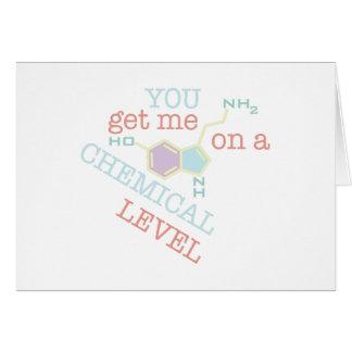 Nivel químico tarjeta de felicitación