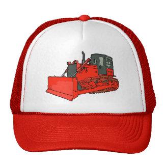 Niveladora roja grande gorro de camionero
