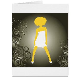 Niza chica precioso tarjeta de felicitación grande