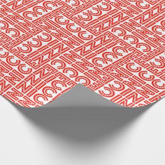 Niza navidad rojo y blanco papel de regalo