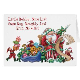 Niza tarjeta de Navidad traviesa de encargo de la