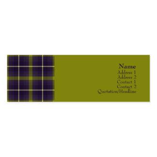 No. 0016 del tartán tarjetas de visita mini