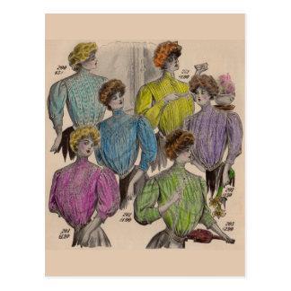 No. 1908 de las cinturas de las blusas de las postal