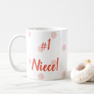 No. 1 taza rosada de los lunares de la sobrina