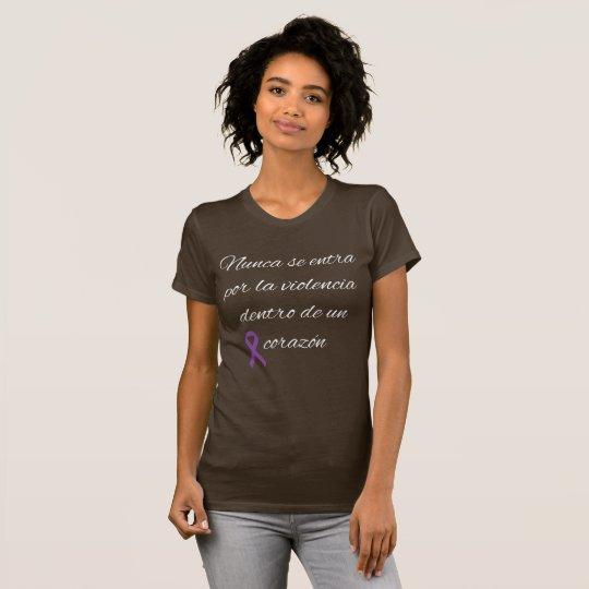 No a la violencia de genero camiseta