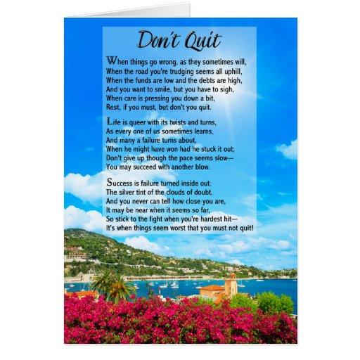 No abandone el poema felicitacion