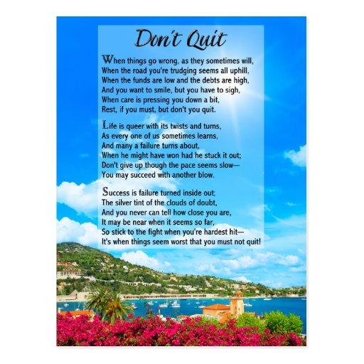 No abandone el poema tarjetas postales