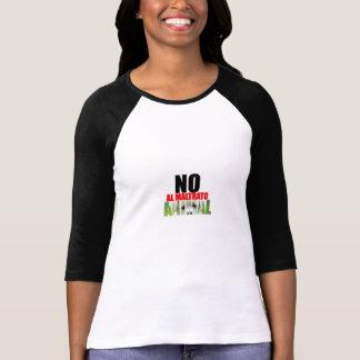 No al maltrato Animal Camiseta