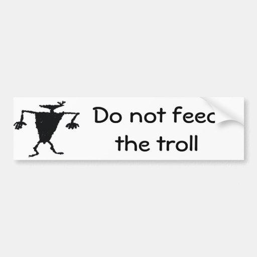 No alimente el duende pegatina de parachoque