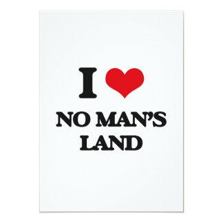 No amo ninguna - el hombre - tierra invitación 12,7 x 17,8 cm