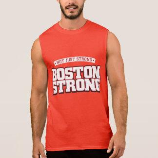 No apenas fuerte. Boston fuerte. el tanque rojo Camiseta Sin Mangas