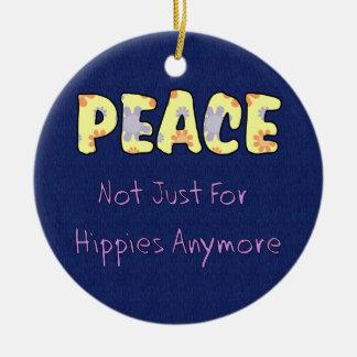 No apenas para los hippies adorno de navidad