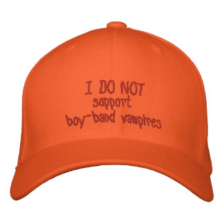 No apoyo el gorra de los vampiros de la muchacho-b gorra de beisbol bordada