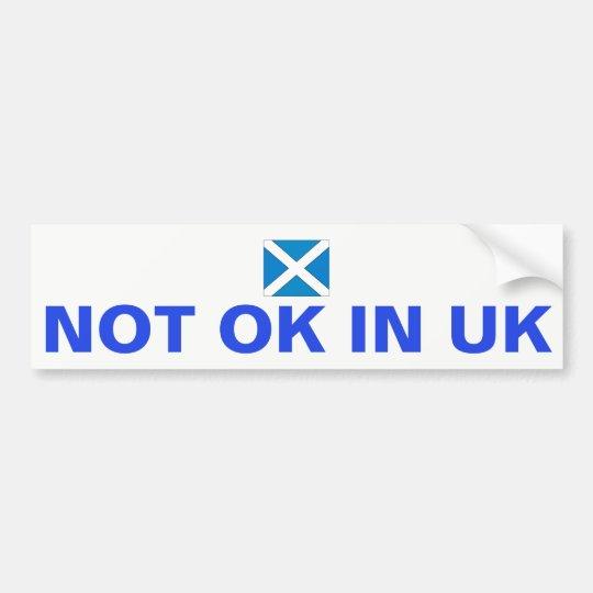 No APRUEBE en Reino Unido Pegatina Para Coche