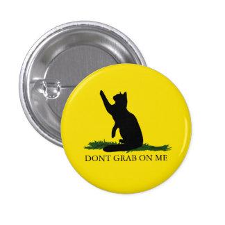 No asga el gatito chapa redonda de 2,5 cm