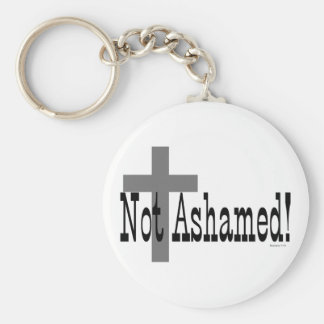 ¡No avergonzado! 1:16 de los romanos (con la cruz) Llavero Redondo Tipo Chapa