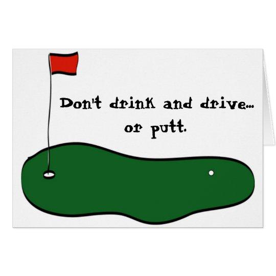 No beba y no conduzca tarjeta de felicitación