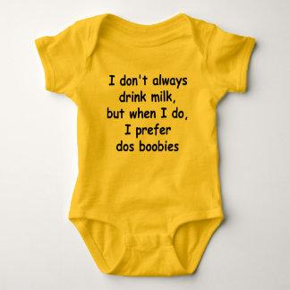 No bebo siempre la leche body para bebé