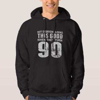 No cada uno mirada este buen 90.o cumpleaños sudadera