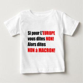 No camiseta política del à MACRON