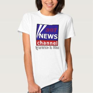 No canal de noticias camisetas