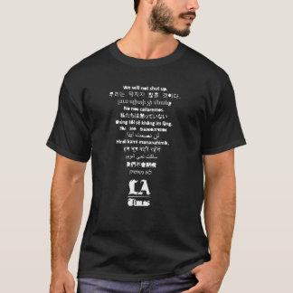 """""""No cerrará"""" la camiseta negra de los hombres de"""